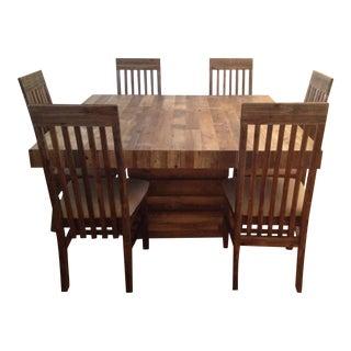 Contemporary Pine Dining Room Set