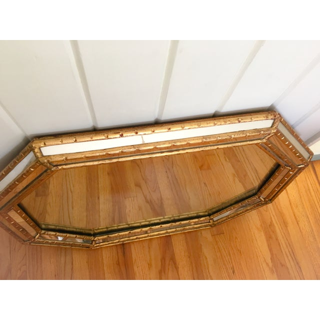 Image of Hollywood Regency Faux Bamboo Gold Mirror