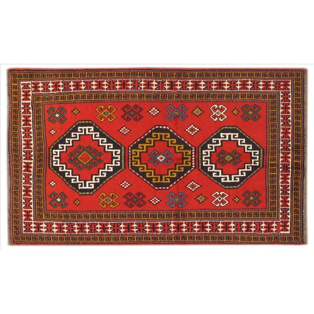 Apadana - Persian Red Geometric Rug - 4' x 7' - Image 1 of 3
