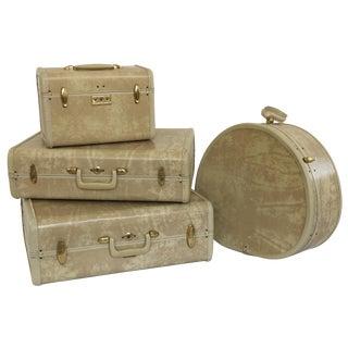 Vintage 4-Piece Samsonite Luggage Set