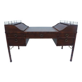 Heritage Faux Bamboo Writing Desk