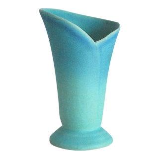 Mid-Century Van Briggle Turquoise Wrap Vase