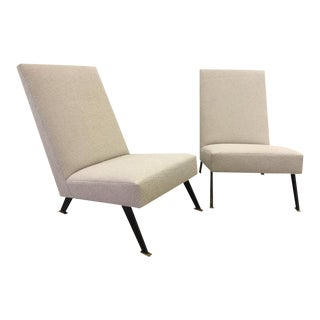 Pair of Sleek Linear Lounge Chairs