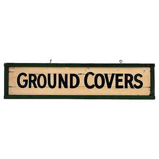 Ground Covers Nursery Sign