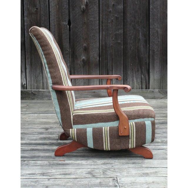 Vintage Reupholstered Rocker - Image 3 of 4