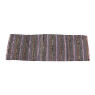 Swedish Hand Woven Rag Rug - 2′ × 6′