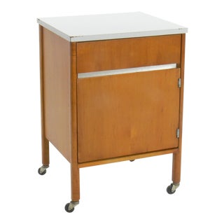 Industrial Hill-Rom Medical Rolling Cabinet With Removable Aluminum Tray