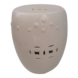 Ching Dynasty Blanc Glazed Ceramic Garden Seat