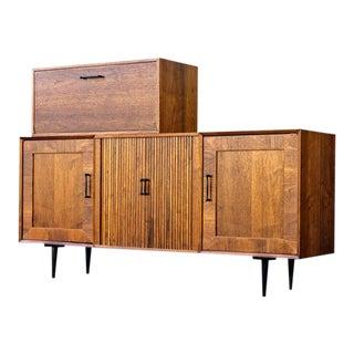 Mid Century Modern Bar Cabinet Credenza