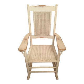 Palecek Distressed White Rocking Chair