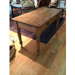 Image of Antique Rustic Pine Console Table