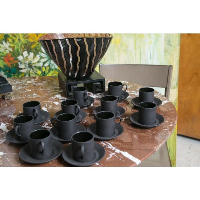 Wedgewood Basalt Demitasse Cups & Saucers-12 - Image 3 of 3