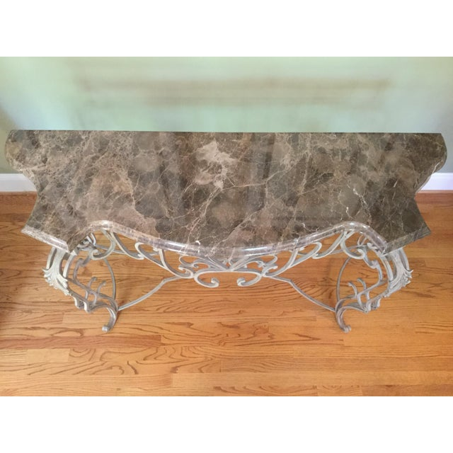 Vintage Marble Top Console - Image 5 of 6