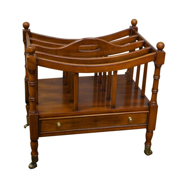Maitland Smith Mahogany Magazine Stand - Image 1 of 10