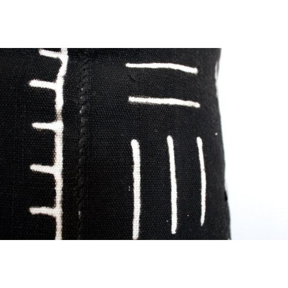 Black and White African Mud Cloth Pillow - Image 5 of 5