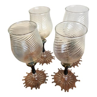 Murano Venini Handblown Glasses - Set of 4