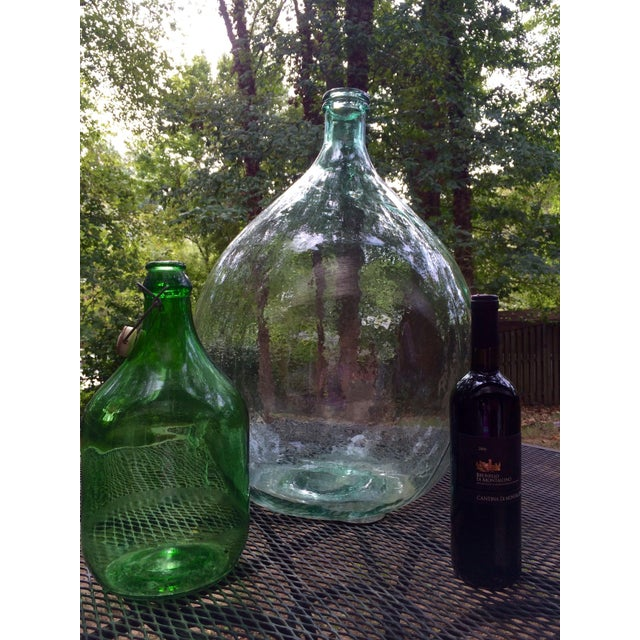 Vintage Italian Demijohn, Personalized Set - Image 7 of 8