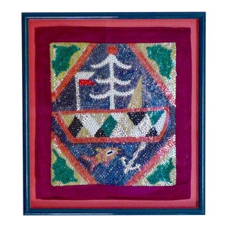 Sequined Haitian Voudou Flag