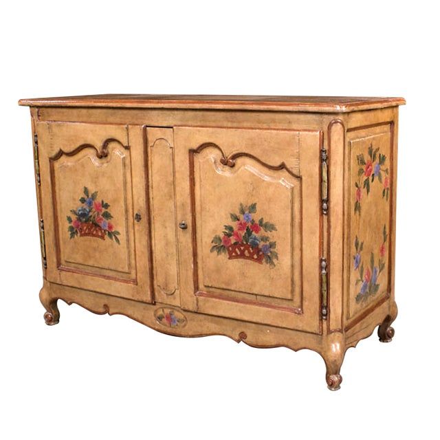 French Provencial Hand Painted Buffet - Image 2 of 5