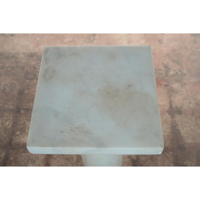 19th C. Italian Carrara Marble Carved Pillar Stand - Image 3 of 10