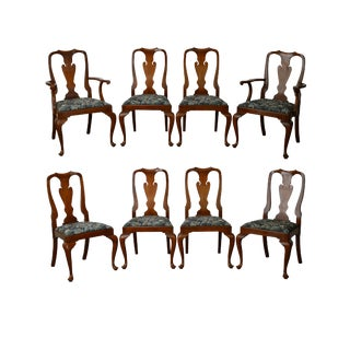 Henkel Harris Queen Anne Dining Chairs - Set of 8