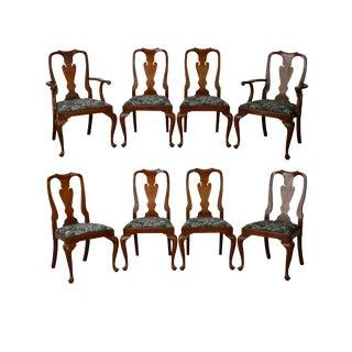 Henkel Harris Queen Anne Dining Chairs - Set of 8