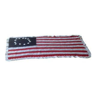 Vintage Handmade American Flag Throw