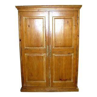 Solid Pine Two Door Armoire