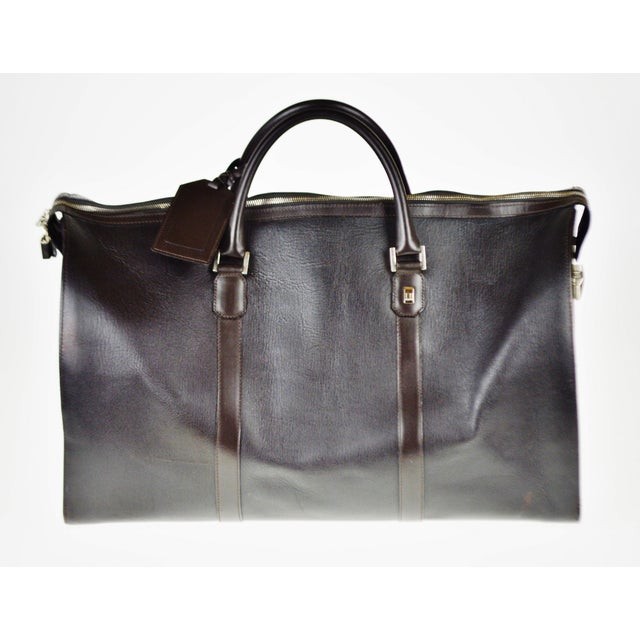 Authentic Vintage Dunhill Leather Large Zip Tote Holdall Bag - Made in Italy - Image 3 of 11