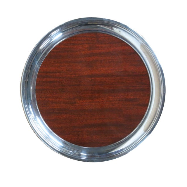 Image of Retro Silver and Formica Platter