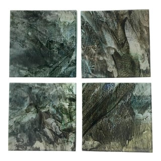 Upcycled Glass Coasters - Set of 4