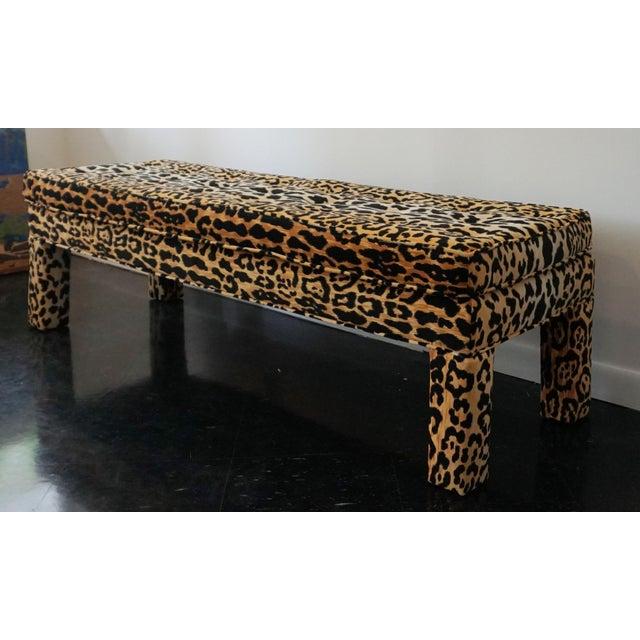 Ballard serengeti velvet jamil leopard upholstered bench Leopard print bench