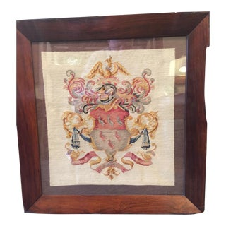 Antique Coat of Arms Needlepoint