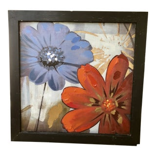 Large Canvas Floral Artisan Painting