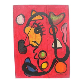 1980's Peter Keil Expressionist Painting