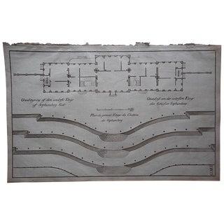 Antique Engraving Floorplan Lg. Folio