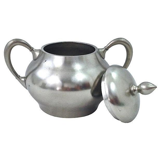 Pewter Teapot Sugar And Creamer - Set of 3 - Image 6 of 7