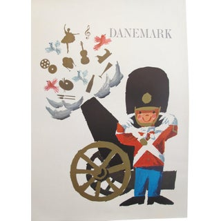 1960s Vintage Danish Royal Guard Poster