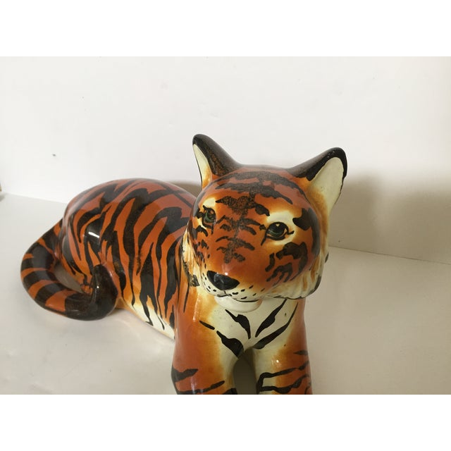 Stunning Italian Ceramic Tiger - Image 3 of 8