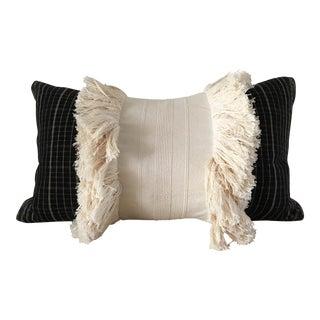 Vintage Repurposed Sumba Ikat Fringe Pillow