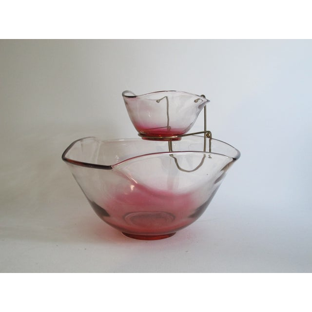 Cranberry Red Chip & Dip Bowl - Image 6 of 8