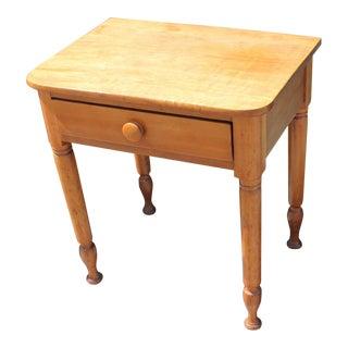 19th Century Early Maple End Table from Pennsylvania Farm House