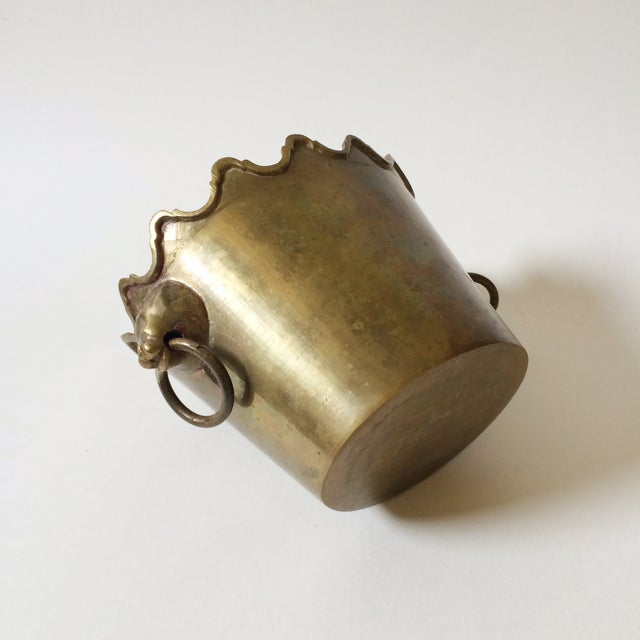 Image of Brass Planter with Lion Head Handles
