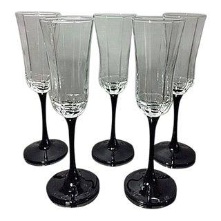 Vintage Luminarc France Champagne Flutes - Set of 5
