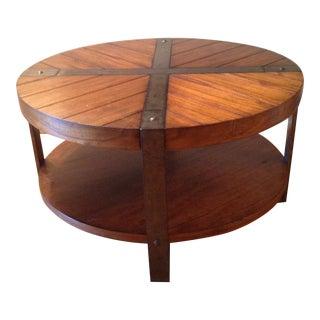 Rustic Worn Oak Brown Coffee Table