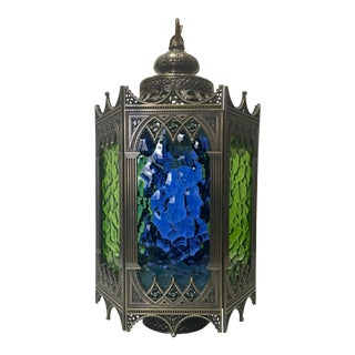 Boho Chic Stained Glass Pendant Lamp