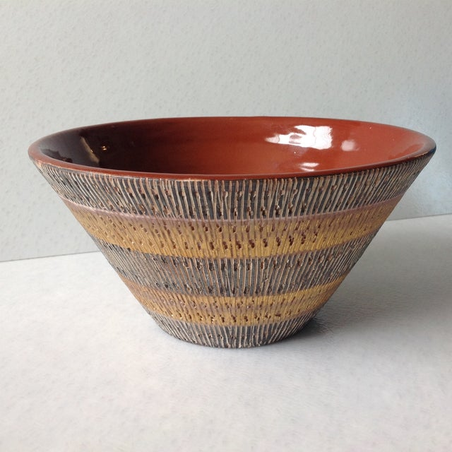 Aldo Londi Bitossi Black And Gold Pottery Bowl - Image 2 of 11