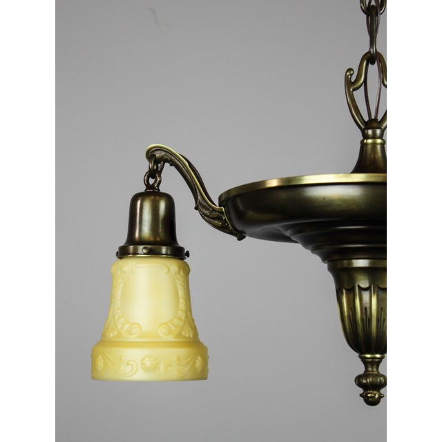 Antique Sheffield Light Fixture (3-Light) - Image 6 of 10