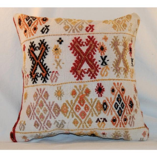 Vintage Square Handmade Bohemian Kilim Pillow - Image 3 of 5