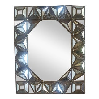 Antiqued Italian Brass Framed Mirror